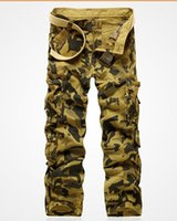 camo pants for men - Group buying Hot Selling brand Men s fashion army gray pockets cargo pants camouflage military camo pant for men