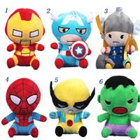 Boys avengers videos - The Avengers Cute Plush Toys Cartoon cm Iron Man Captain America Thor Hulk Wolverine Spiderman Super Heroes Stuffed Dolls Christmas Gift
