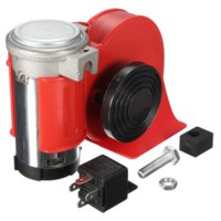 Wholesale Car Motorcycle Truck V Red Compact Dual Tone Electric Pump Air Loud Horn Vehicle Siren M9389
