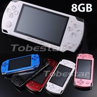 Wholesale 100pcs New inch GB Handheld Game Player Media Player Portable Game Console MP5 Player Built in Camera FM Radio TV Out