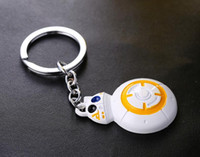 antique toy robots - NEW Hot fashion Cartoon movie key chain toys Star Wars BB8 robot Alloy keychain Toys best gifts cc144