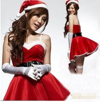 sexy fashion pajamas - Fashion Sexy Lingerie Red Velvet Christmas dress Costume Pajamas Underwear Kimono Outfit erotic Lingerie sets jumpsuit LR1038