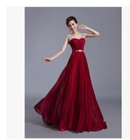 backless maxi evening dress - New US2 W Plus siz Sexy Embroidery Hot Drilling A line Camisole Long Evening Dress High Grade Chiffon Party Gown Maxi Dresses Evening Gown