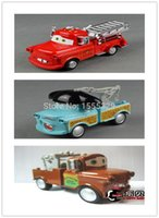 other toy tow trucks - 3pcs Large Pixar Cars Diecast Figure Toys Collections Matador Fire Truck TOW Mater with Musical Flashing Pull Back