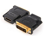 Wholesale lto DVI Male to HDMI Pin Female M F Adapter Converter for HDTV Graphics Card Converter Adapter
