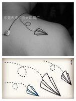 art paper manufacturers - Waterproof Temporary Tattoo Body Art Sexy Fake Tattoo Custom tattoo stickers waterproof disposable paper airplane manufacturers w