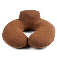airplane headrest pillow - Headrest Travel U Shape Neck Pillow Bamboo Chracoal Airplane Travesseiro De Pescoco Animados New
