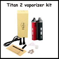 Wholesale New arrival Titan dry herb vaporizer mAh rechargeable battery TITAN vaporizer cigarettes vaporizer pen Titan vapor titanium by DHL