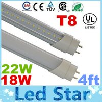 Wholesale CE ROHS FCC UL ft m mm T8 Led Tube Lights High Super Bright W W Warm Natural Cool White Led Fluorescent Tube Lamp AC V
