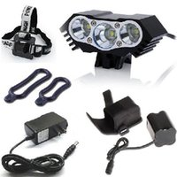 Wholesale 6000lm New design LED Bike Light cree T6 Head light Headband With UL led Driver Battery mAH