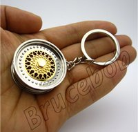 bbs rims - BBS Wheel Rim Keychain Creative Accessories Hot Sale Auto Parts Disc Brake NOS Turbo Keyring Key Chain Ring Key Ring Keyfob