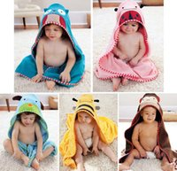 Unisex bathrobes - Baby Kids Toddler Cartoon Animal Dressing Gown bath Towel Hooded Bathrobe Cotton