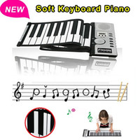Wholesale 61 Keys Roll up Flexible Electronic Keyboard Piano with loundspeaker baby kids music instruments toys for children