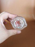 Wholesale New colorful cm men s pattern oil ring ashtray glass ashtray dish for Multiple uses