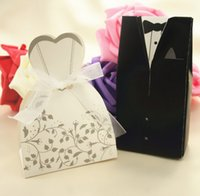 Wholesale 100pcs Bride and Groom box Wedding Favor Boxes Gift box Candy box