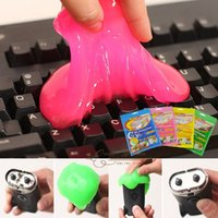 Wholesale NEW Magic Dust Glue clay Clean Mud for Car Keyboard Toy Phone Washing FOUR colors Crystal Solid Cleaner