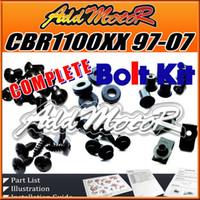 Wholesale Addmotor Pieces Set Black Complete Fairing Bolt Kit Body Screws Fasteners For Honda CBR1100XX Blackbird CBR XX H11S