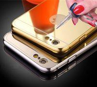 aluminium back plate - For iPhone s plus Aluminium Metal Plating Mirror Case Luxury PC Back Cover Case For Samsung s6 edge Android Mobile Phone