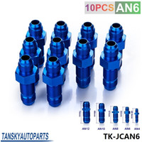 Wholesale Tansky High Quality AN AN6 MALE THREAD STRAIGHT BULKHEAD FLARE BLUE ALUMINUM ANODIZED FITTING JDM TK JCAN6