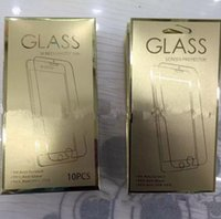 Wholesale Hot Empty paper Retail boxes for ipad pro inch tempered glass screen protector ipad air mini guard film gold color package packing