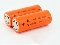 Wholesale MNKE battery for Mod e cigarettes li ion battery MNKE IMR26650 mAh v A rechargeable lithium battery vaporizer battery