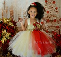 Wholesale 2015 Popular Items For Christmas Dress Pretty Tulle Sequin Flower Girl Dress