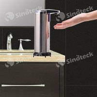 Wholesale Sensor Soap Dispenser Stainless Steel Automatic Hands Free Touchless Wash Machine Portable Motion Activated Free DHL Factory Direct