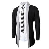 Wholesale Fall New Man Overcoat Knit Cardigan Trench Parka Long Sleeve Fashion Coat winter jacket men brand clothing brand clothing
