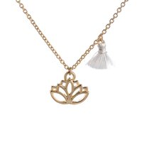 om pendant - Gold Lotus Pendant Necklace Pink Tassel Long Gold Chain Hindu Jewelry Buddhist Jewelry Mala Inspired Necklace OM Yoga Jewelry