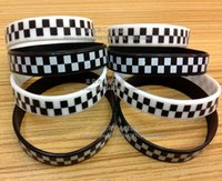 hip support - 2 styles Hot sale Hip hop wristbands Plaid Silicone Wristbands silicone bracelet Classic Hip hop Support wristband LJJD548