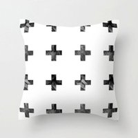 Wholesale large plus cross white black Throw Pillow Cover Sofa Couch Cushion Case quot