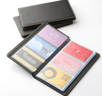 Wholesale large capacity senior PU name card holder card package business card holder card book