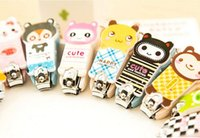 animal nail trimmer - Lovely Cartoon animal Stainless Steel Nail Clipper Cutter Trimmer Manicure Pedicure Care Scissors Hot Worldwide