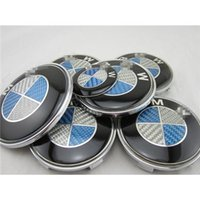 bmw logo - 7 Pieces Set For BMW Car Logos Carbon Fiber Blue and White Emblem Kits BMW Car Modify Logos Set with Hood Tail Wheels Badges