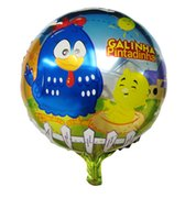 aluminum foil chicken - Galinha pintadinha balloons aluminum cartoon foil balloons chicken balloons for baby birthday party