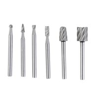Wholesale 6pcs HSS Routing Router Grinding Bits Burr For Dremel Bosch Rotary Tool Brand New