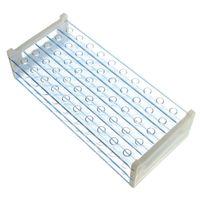 Wholesale 1PC Modern Durable mm Vents Plastic Double Deck Test Tube Rack Plastic Laboratory Test Tube Rack High Quality Blue