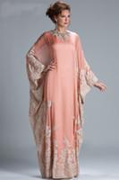 Cheap 2015 elegant Long Sleeve abaya in dubai kaftan Muslim Evening Dresses arabic Evening Gowns robe de soiree