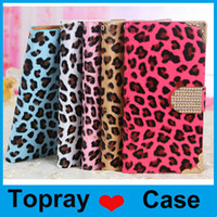 Cheap For iPhone 6 cases Luxury Leopard grain Stand Wallet Style PU Leather Case with card holder for iPhone 6  iPhone 6 plus iphone 5 5s 4 4s