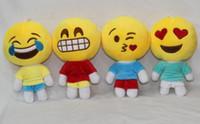 plush toys - QQ Expression Emoji Shits Poop Smiley Pillows Cartoon Cushion Pillows Yellow Round Emoji Plush Doll Stuffed Plush Toy
