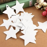 Wholesale 100 White Kraft Paper Tags Stars Blank Wedding Party Favour Gift Pricing Label Card Etichette Lage Labels