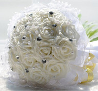 Wholesale Korean bride wedding bouquet bouquet simulation Bridesmaid refined Beaded Wedding photography wedding celebrations necessary