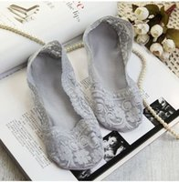 ballet slippers fashion - Hot New Fashion Lace Breathable Invisible Soft Socks For Wedding Shoes Lady Women Sock Slippers Silicon Foot Cover Colors Socks Hosiery