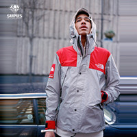 mens sport coats - New Mens windbreaker north jacket M Flag reflective Outdoor Waterproof Windproof Sports college sportswear hoody coats ZJ1204