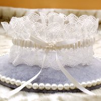 Wholesale Pearl Lace Fashionable Bridal Garters Hot Sale Wedding Accessories New Coming Suspenders In Stock Birthday Present For Groomsman Party