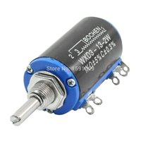 Wholesale 2pcs NEW WXD3 W K ohm Rotary Multiturn Wirewound Potentiometer