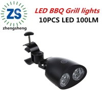 barbecue covers - 270 degree high heat resistance bbq grill light with touch switch LED grill light for outdoor cooking and garden eating tools