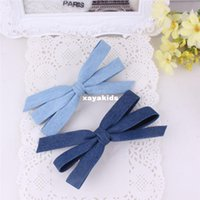 baby institute - Xayakids Hairpin Small fresh denim bowknot hairpin hairpin fashion Korea Institute of wind and winter accessories new hair Baby Headband