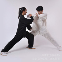 Wholesale Direct selling cotton and martial arts practice tai chi clothing costumes and elegant summer color