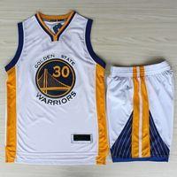 basketball jersey uniform - Warriors White Stephen Curry Jerseys Pant Sets Men s Sportwear Newest Golden State Basketball Uniform Suit S XXL TOP QUALITY